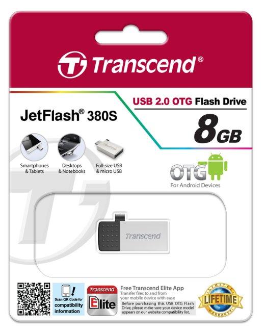 Transcend JetFlash 380 (8 GB) OTG Stick um 6,33 € - bis zu 39% sparen