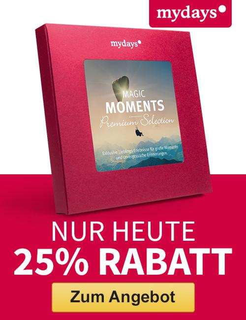 Amazon Black Friday Nur am 27.11.2015 und exklusiv für Amazon-Kunden: 25% Rabatt auf die Magic Moments Geschenkbox bei mydays