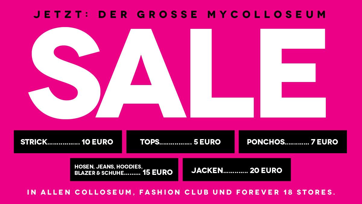 [Colloseum] Sale - Tops 5€, Ponchos 7€, Hosen und Schuhe 15€, uvm.