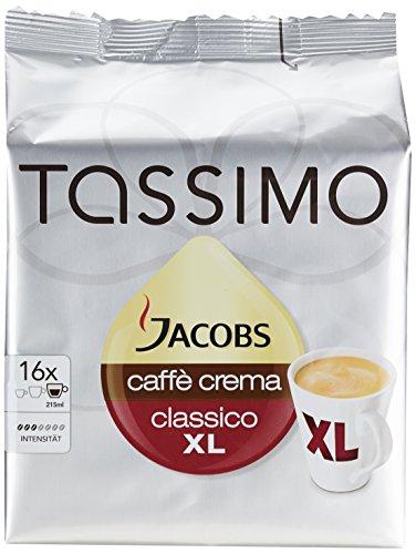 Tassimo Jacobs Caffè Crema Classico XL, 5er (5 x 16 Portionen) um 17,95 € (statt ab 23,90 € )