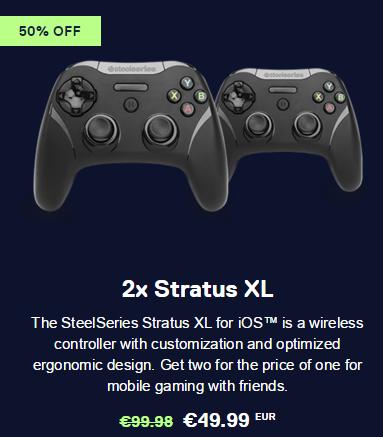 [Steelseries.com] Super günstige Bundles! Stratus XL IOS Controller 2 zum Preis von einem!