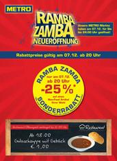 Metro Ramba-Zamba: 25% auf Spielwaren sowie 25% auf einen Nonfood-Artikel