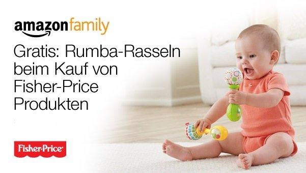 [Amazon.de][ Family + Prime] gratis Rumba-Rasseln beim Kauf von Fisher-Price Produkten ab 30€