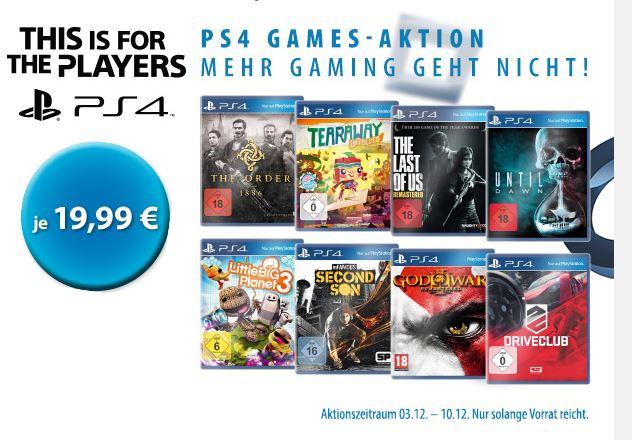 Müller: PS4 Games um €19,99