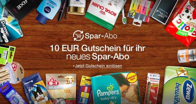 [Amazon] 10€ Gutschrift bei Abschluss eines neuen Spar-Abos - für ausgewählte Kunden!