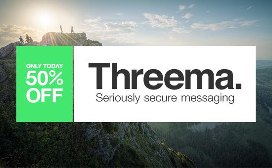 Threema feiert Geburtstag: Zum halben Preis erhältlich (50%)