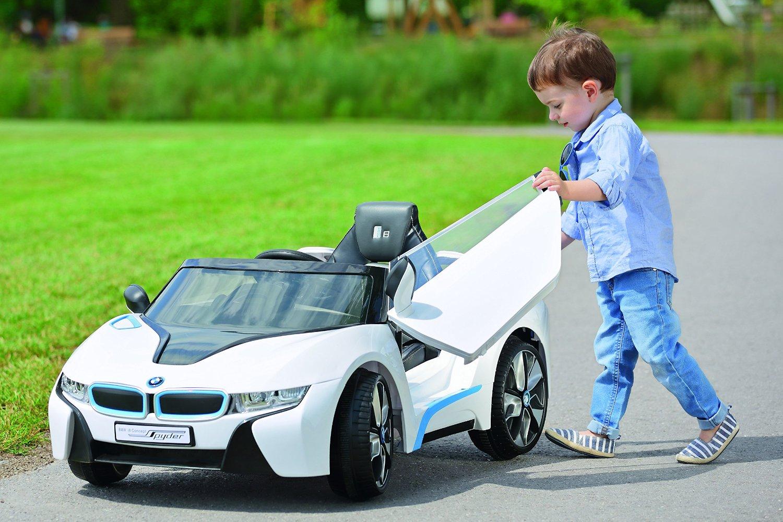[Möbelix] Ride On Car Bmw I8 ( weiß oder blau) fahrbarer Kinder- BMW um 128€