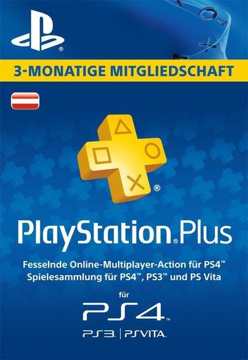 Sony PlayStation Plus - 90 Tage Abo für österreichische Accounts (PS4/PS3/PSVita) ab € 30 EK + kostenlosen Versand liegt der Preis bei€ 14.99