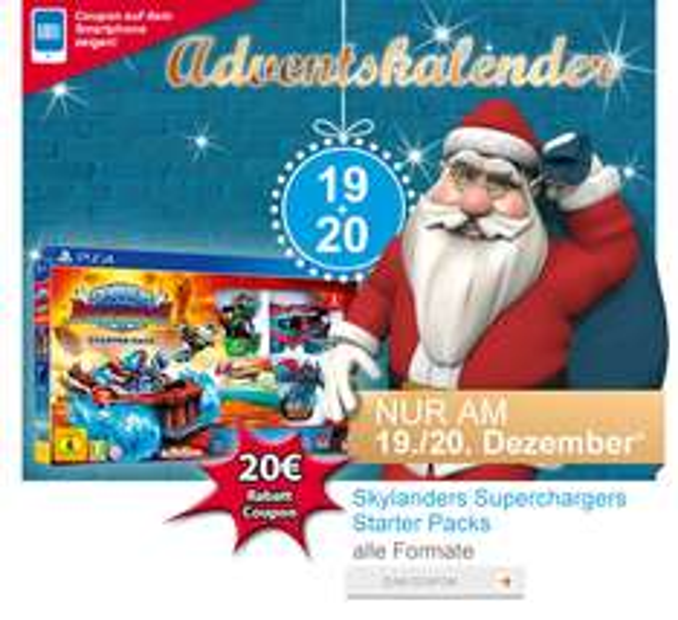 Müller: Skylanders Superchargers Starter Packs (PS4 / Xbox One) für 29,99€ - nur heute gültig!