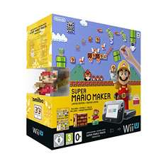 Amazon Nintendo Wii U Premium Pack schwarz, 32GB inkl. Super Mario Maker + Artbook + Amiibo