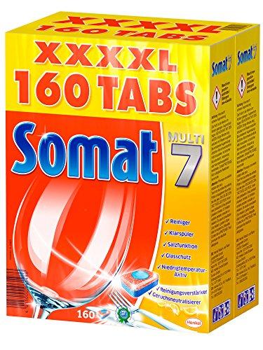 """Somat Tabs """"Multi 7"""" XXXXL - 160 Stück um 17,95 € (= 11 Cent/Stk) - bis zu 58% sparen"""