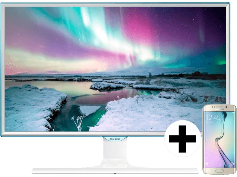 """[MediaMarkt.at] SAMSUNG Galaxy S6 Edge 32 GB + 27"""" Monitor LS27E370DS/EN für 699€ [PVG: 875€]"""