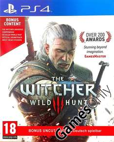 GamesOnly: The Witcher 3: Wild Hunt (PlayStation 4) für 33,98€