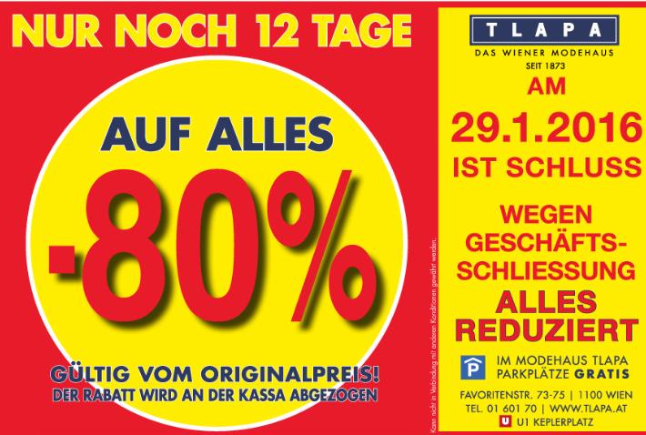 [Tlapa.at] Tlapa sperrt zu min. -80% und mehr auf ALLES!
