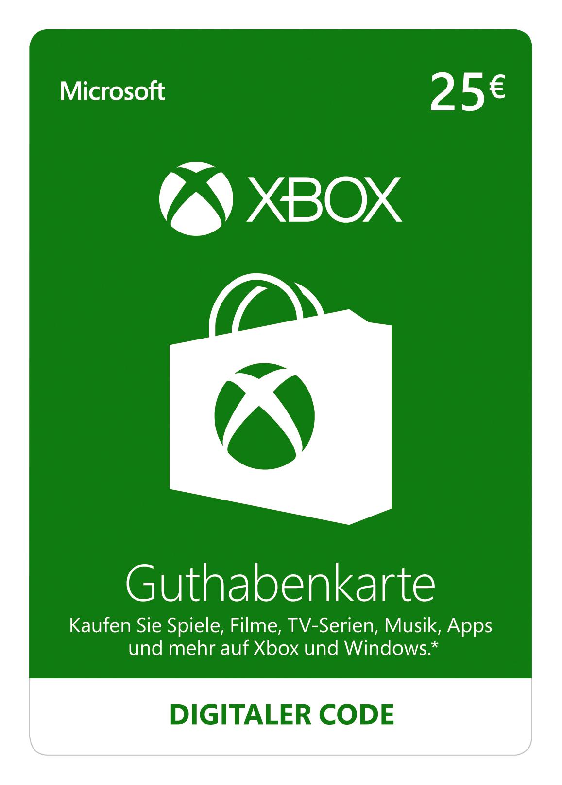 [Amazon.de] 25€ Xbox Live Guthaben für 21,99€ / 35€ Guthaben für 30€