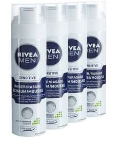Nivea Men Sensitive Rasierschaum, 4er Pack (4 x 200 ml)