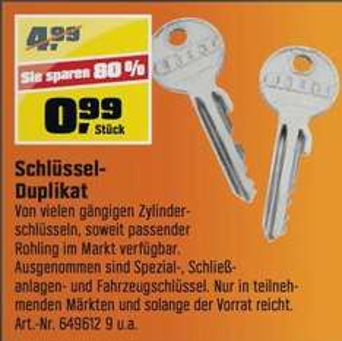 [Obi] Schlüsselduplikat