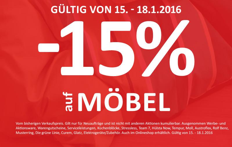 -15% bei KIKA + Online. Gültig von 15. - 18.1.2016