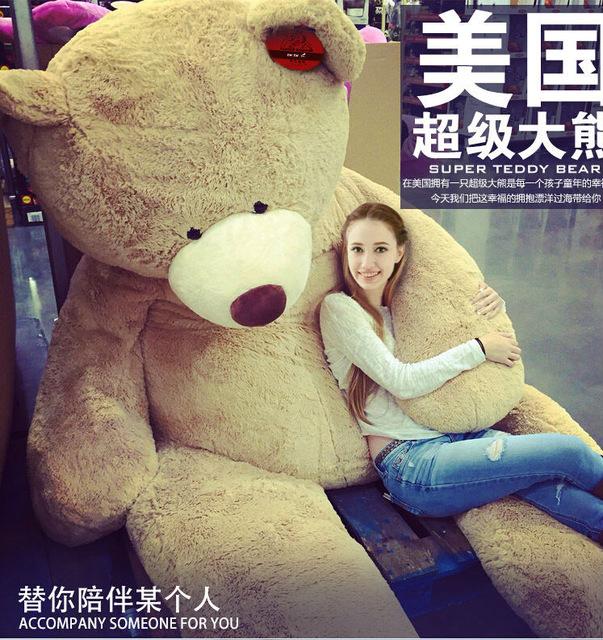XXXL (2,60m) Teddy Bär um rund 120 € (Aliexpress)