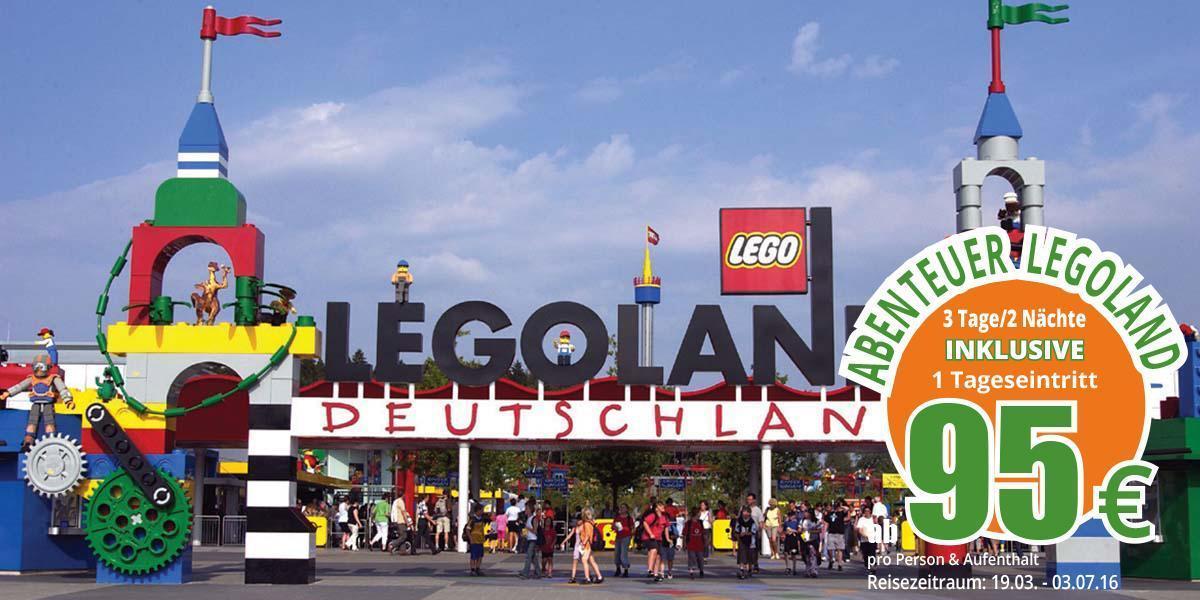LEGOLAND ab € 95,-- pro Person für 2 Nächte