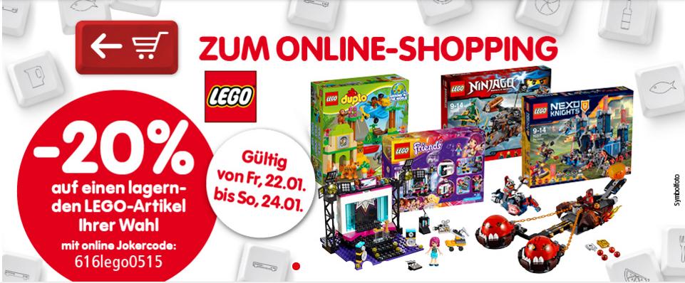 Interspar online: -20% auf Lego