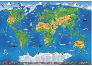 XXXL-Panorama-Kinder-Weltkarte + Gratis-Atlas nur 12,97€ inkl. Versand