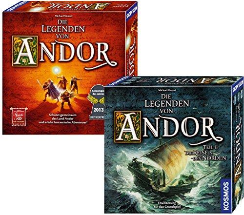 """Brettspiel Bundle: """"Die Legenden von Andor"""" + """"Die Reise in den Norden"""" um 35 € - 39% sparen"""
