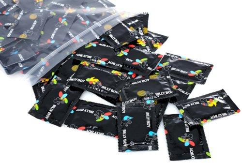 Billy Boy Kondome im 100er Beutel - genoppt, farbig, extra feucht