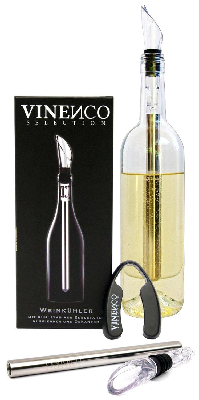 VINENCO Weinkühler mit integriertem Dekantierausgießer jetzt 25% günstiger für €14,99 statt €19,99 auf Amazon