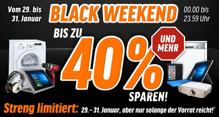 [notebooksbilliger] Black Weekend - Prozente auf viele Produkte, u.a. Notebooks, Tablets, SSD, ...