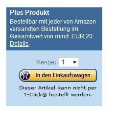 [Info] Amazon Plus Produkte ab 20€ Bestellwert möglich (Nicht mehr 29€)