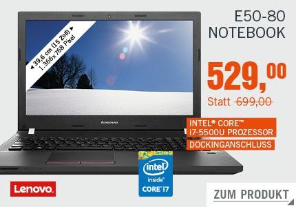 Cyberdeal: Lenovo E50-80 / Core i7 5500U / 2,4 GHz / Windows 10