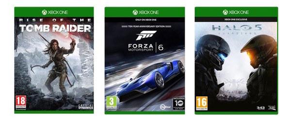 Halo5 Guardians (XBO) + Rise of the Tomb Raider (XBO) + Forza Motorsport 6 (XBO) für zusammen 50,-€* Update..Einzelspiele jetzt nur noch 19,-€Update 2..Halo 5 ausverkauft