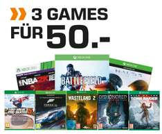 Saturn: 3 Games (PS4, XBox One, 3DS, Wii,...) um 50 €