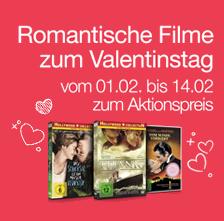 Aktion: Passend vor Valentinstag! Romantische Filme zum Aktionspreis