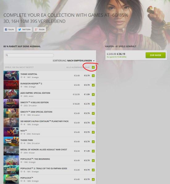 EA-Sale bei GOG