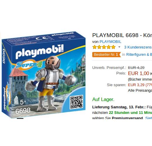 Playmobil 6698 Königswache Sir Ulf für nur 1€ !!!