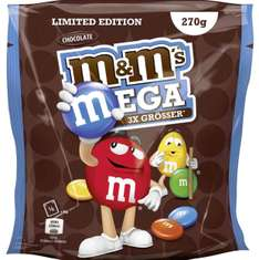 m&m's mega chocolate 5x 270g