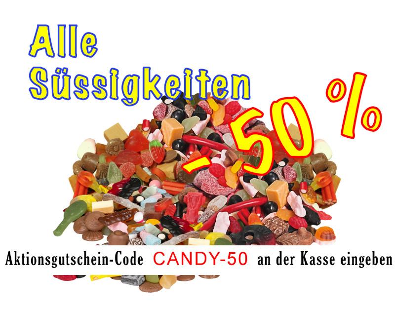 Süßigkeiten -50% – Pick 'n' Mix Candy zum HALBEN PREIS ! ! !