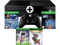 [MediaMarkt.at] MICROSOFT Xbox One 500GB mit FIFA 16 (DLC)+ LocoCycle (DLC)+ Max (DLC) + Rare Replay + 1 Monat EA Access um nur 301€