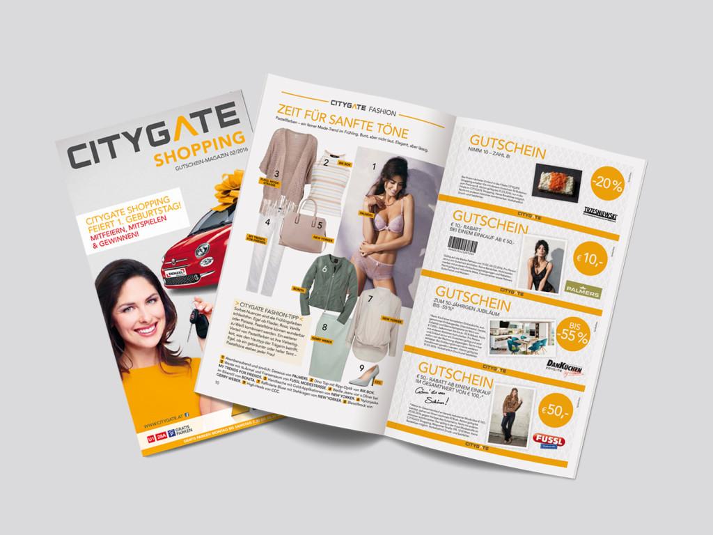 Citygate Wien feiert 1. Geburtstag mit Gutscheinheft - bis zu 50% sparen!