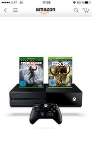 Amazon: Xbox One 1TB + Rise of the Tomb Raider + Far Cry Special Edition um €341,86 (Bestpreis)