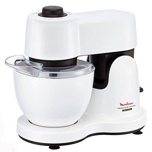 Amazon und Redcoon Moulinex QA2131 Küchenmaschine Masterchef Compact White Plus (700 W, 3,5 L Volumen, 4 Geschwindigkeitsstufen) weiß / grau für 79 Euro