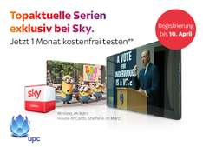 Gratis Monat SKY Filmpaket bei UPC