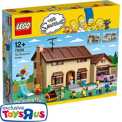 ToysRus: 20% Rabatt auf Lego vom 17. bis zum 26. März - u.a. mit: LEGO - Das Simpsons Haus für 159,99€