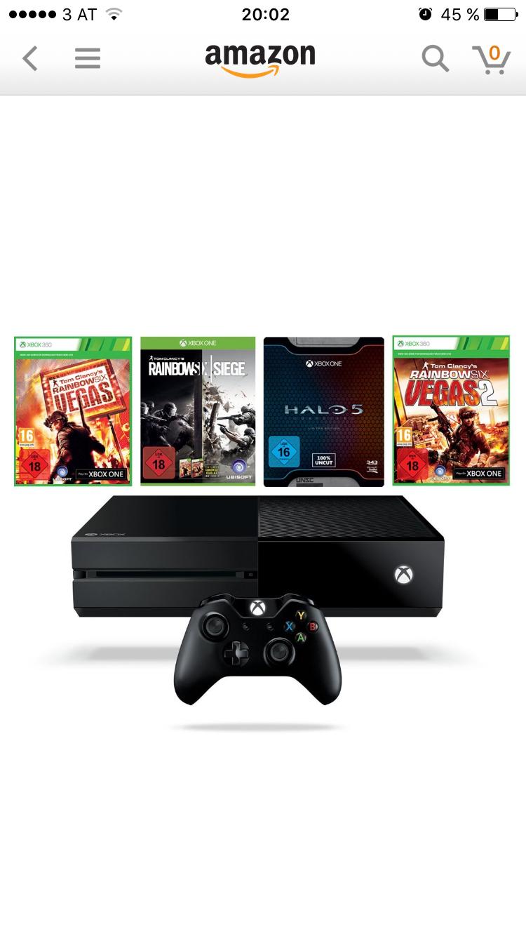 Amazon Blitzangebot: Xbox One 1TB inkl. 4 Spiele um €319 (bis 23:30)