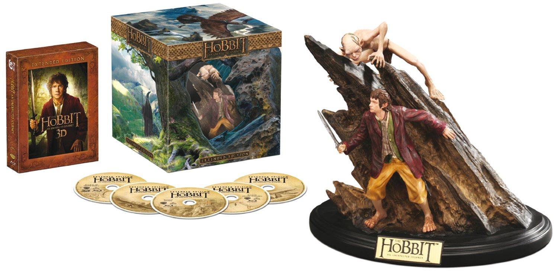 Der Hobbit: Eine unerwartete Reise - Extended Edition 3D/2D Sammleredition (5 Discs, + WETA-Statue) nur 24,99€ mit Prime
