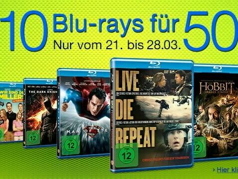 Amazon| Neue Aktion: 10 Blu-rays für 50 EUR