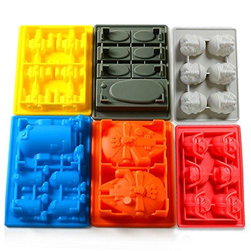 Star Wars 6 Pcs Eiswürfel, Schokolade, Süßigkeiten, Götterspeise Form nur 13,99€