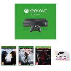 [Amazon.fr] Xbox One 500GB + Halo 5 + Rise of the Tomb Raider + Metal Gear Solid V+ Forza Horizon 2 für 328,88€ - 23% sparen